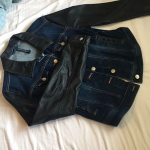 Fashion jean leather jacket 👍🏼