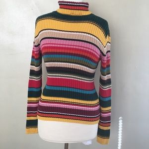 Last chance!!!! Vintage 1990s Rainbow Turtleneck