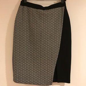Grey and black pencil skirt