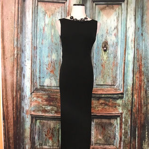 Hugo Buscati Victoria Secret Black Long Dress Sz 6