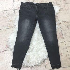 Mossimo Mid-Rise Skinny Raw Hem Jeans