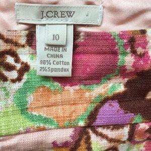 J. Crew floral print skirt size 10