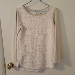 Target Brand White & Grey Sweater
