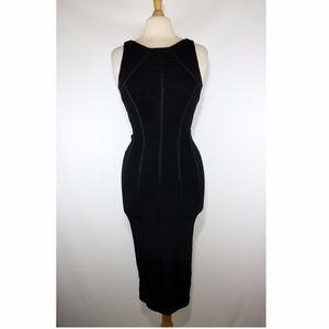 Herve Leger Paris Black Bandage Bodycon Dress