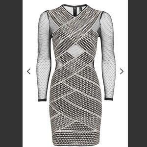 Topshop Mesh Bandage dress