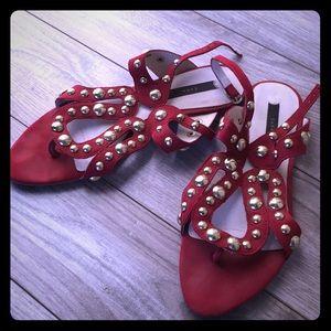 Zara Suede Gladiator Sandals