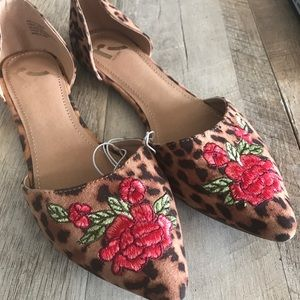 💥FLASH SALE💥Leopard Embroidered Pointed ToeFlats