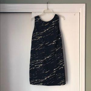 Navy Marbled Gap Dress