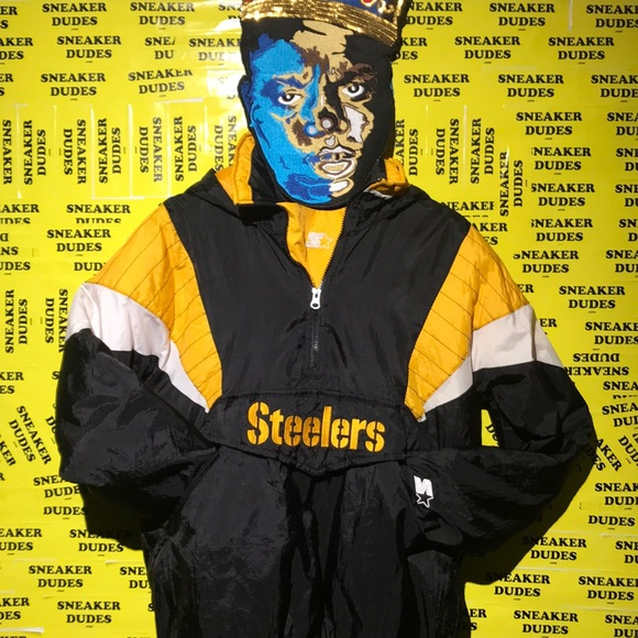 on sale 1206b 82a19 Preowned Starter Steelers pullover jacket