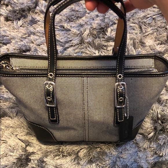 409a9da7980 Coach Handbags - Coach Women's Small Tote Bag canvas/Leather.