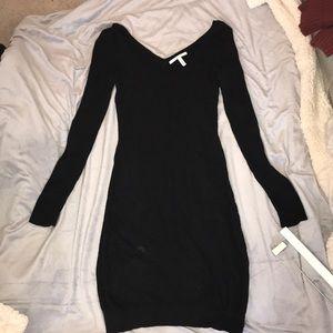 Long-sleeve sweater dress