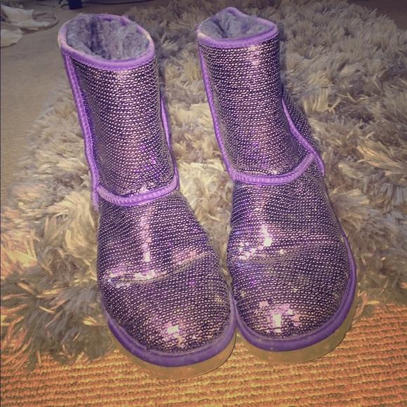 Purple Sequin Uggs