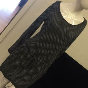 Soft grey w/white hearts dress