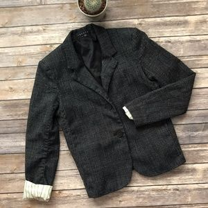 Theory Tweedy Suiting Eldima Wool Tweed Blazer