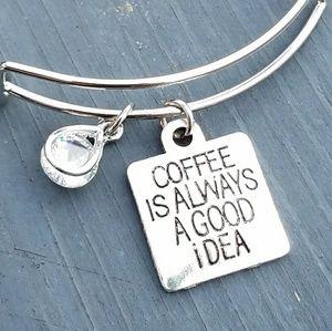 Jewelry - New coffee is always a good idea charm bracelet