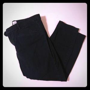 Black skinny ankle pants size 14