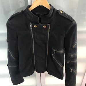 Marc by Marc Jacobs black denim moto jacket, xs