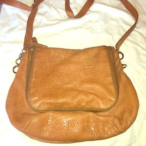 Vince Camuto brown crossbody brown leather bag