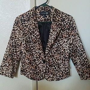 Cheetah print blazer from forever 21