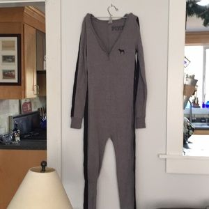 Grey one piece from Pink Victoria's Secret