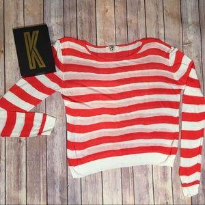 YA Los Angeles Striped Sweater Size M