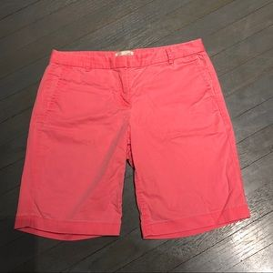 J Crew Pink Stretch Cotton 10 Bermuda Chino Shorts