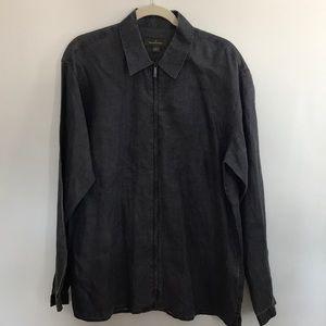 Ermenegildo Zegna Men's 100% Linen Shirt  Size L