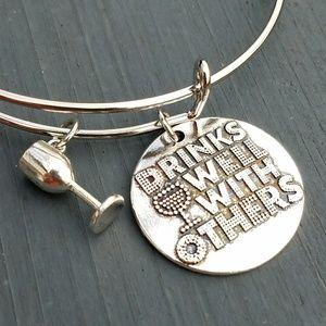 Jewelry - New drinks well with others charm bracelet