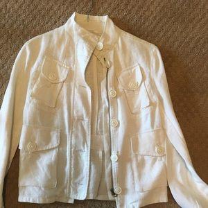 EUC white linen French Connection jacket