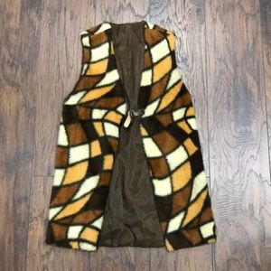 70s Vintage one of a kind fuzzy vest