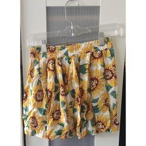 Brandy Melville Sunflower Skirt