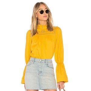 Free People ANOTHER ETERNITY BLOUSE in Mustard
