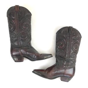 Vintage DINGO western cowboy tall leather boots 7
