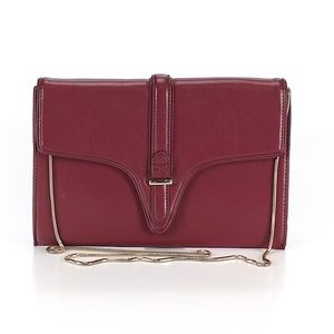 ZARA Basic Burgundy Leather Crossbody/Clutch Bag!