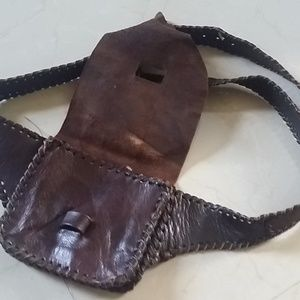 100% Leather Morocco Fanny Bag Handmade Brown Z&L