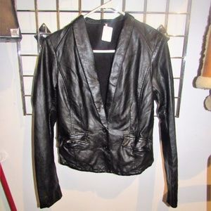 Free People Faux Leather Jacket!