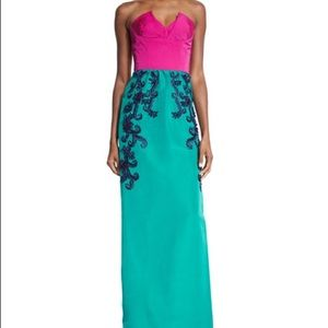 BRAND NEW OSCAR DE LA RENTA TWO-TONED GOWN.