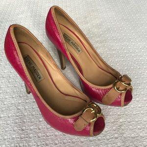 Pink Leather Steve Madden Heels