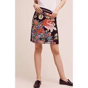 Anthropologie Monogram Garden Pop Skirt NWOT