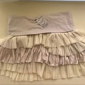 New With Tags Free People Ruffled Mini Skirt!!