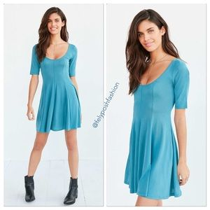 Urban Outfitters Beverly Swing Cupro Mini Dress