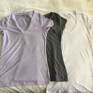 3 V neck tees from Express