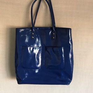J.crew patent leather tote