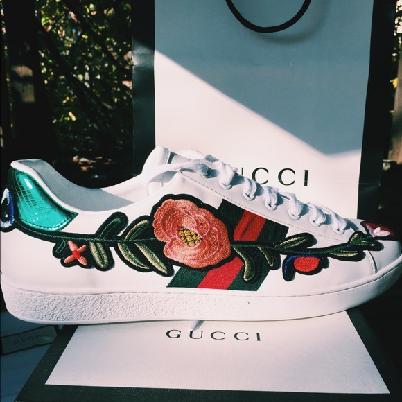Gucci Other - Gucci Ace Floral 16ea3ed79856