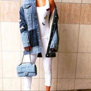 "Zara ""Beautiful"" denim and fleece lined jacket"
