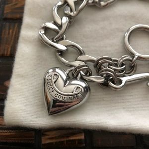 Juicy Couture puffed heart bracelet.
