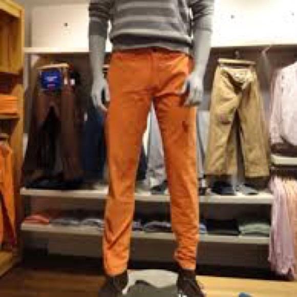 GAP Lived in Slim Orange Chino
