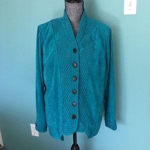 Vintage Bob Mackie Jackie Wearable Art Turquoise L