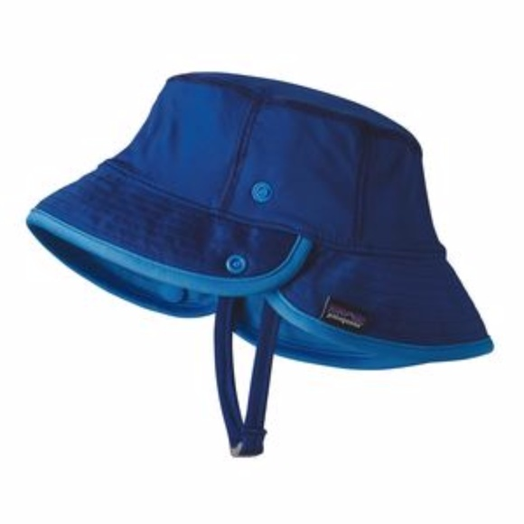 c440acdc657 Patagonia Baby Little Sol Hat Blue 3-6 Months SPF