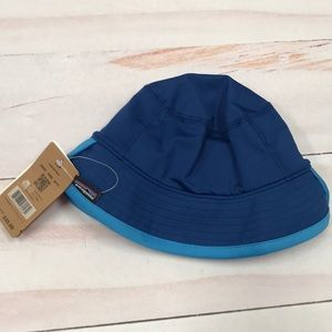 326236147 Patagonia Baby Little Sol Hat Blue 3-6 Months SPF NWT